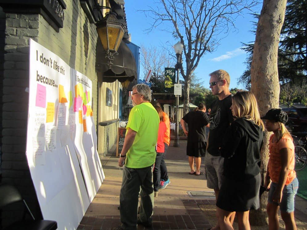 Complete Street Post-It Wall