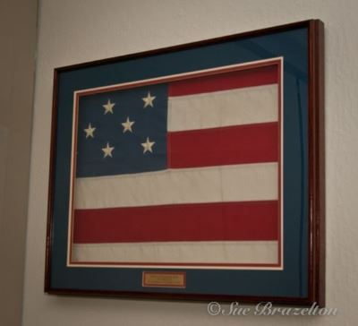 Framed American Flag, The Flag of Ground Zero