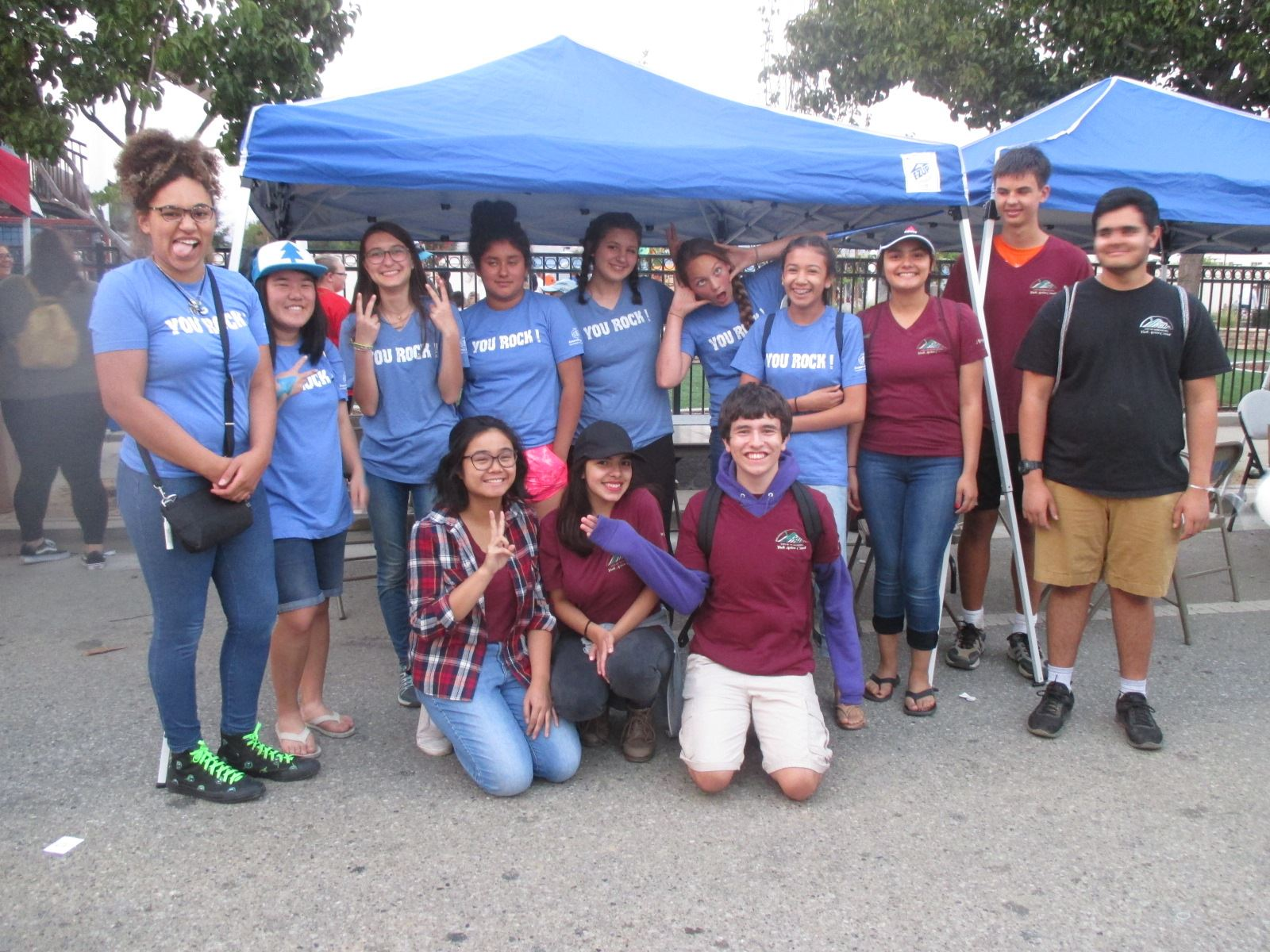 YAC Group Photo During National Night Out