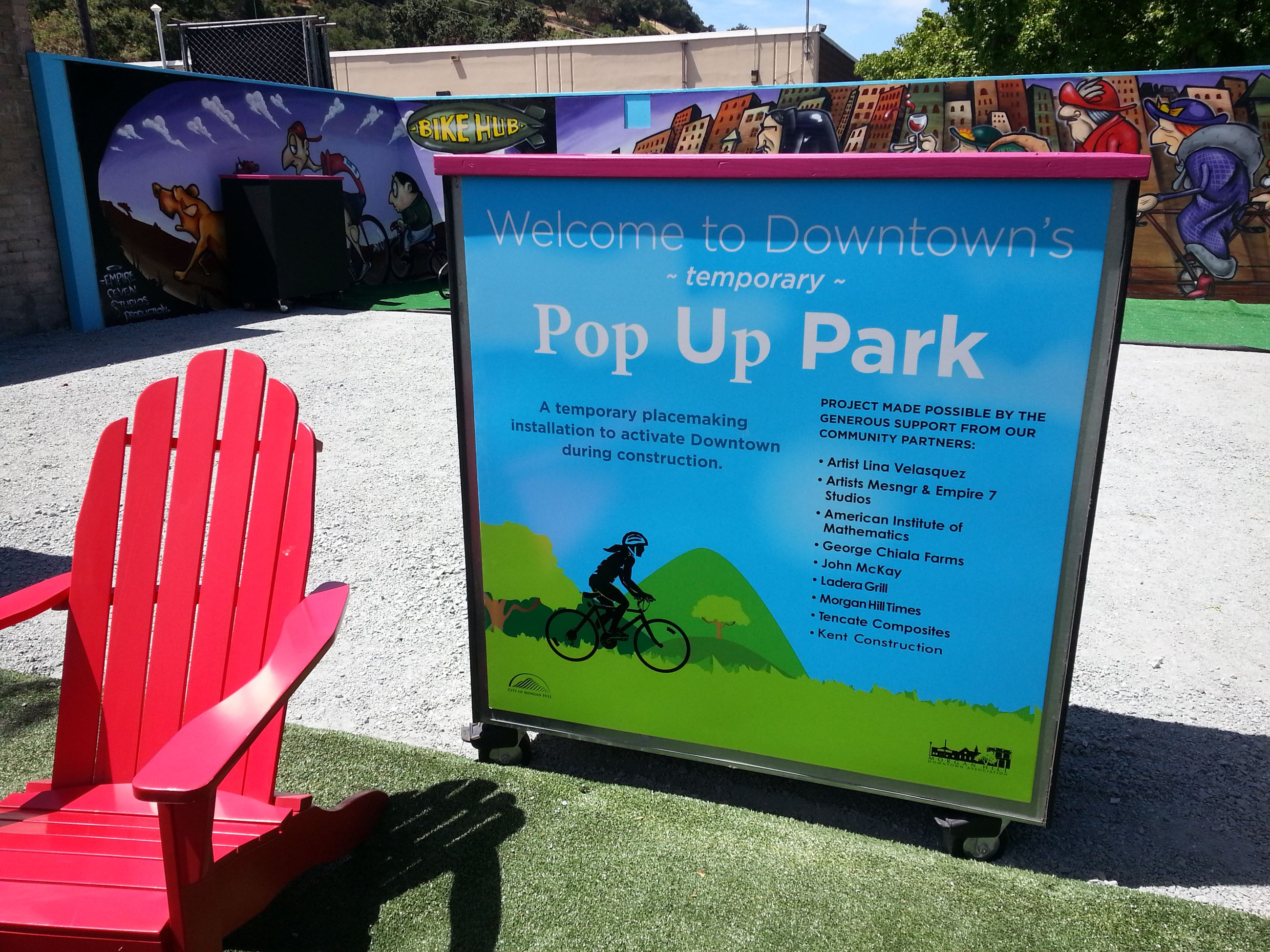 Adirondack Chair and Pop-up support listing